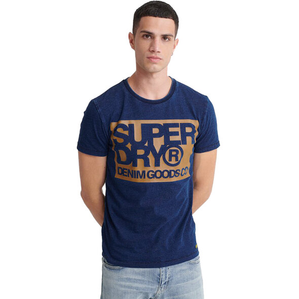 SUPERDRY DENIM GOODS CO PRINT ΜΠΛΟΥΖΑ ΑΝΔΡIKH M1010056A-17G