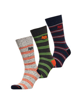 SUPERDRY CITY SOCK 3PACK BOXED ΚΑΛΤΣΕΣ ΑΝΔΡΙΚΕΣ M31033OR-TZ1