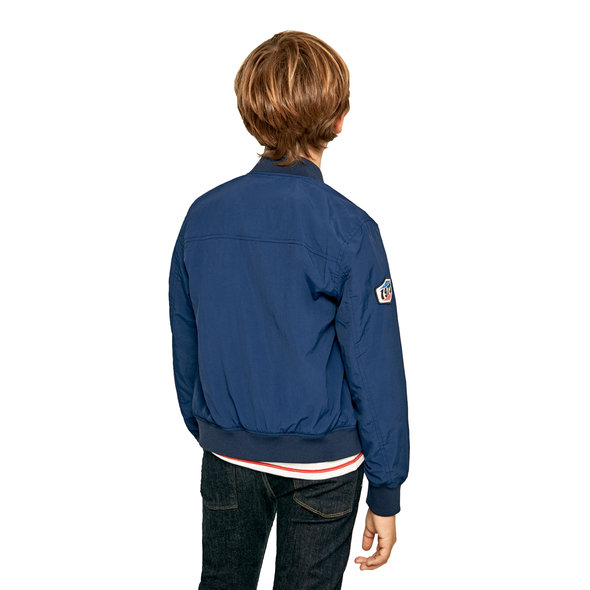 PEPE JEANS 'HAWTHORN' ΠΑΙΔΙΚΟ PATCHED BOMBER ΜΠΟΥΦΑΝ ΑΓΟΡΙ PB400986-573