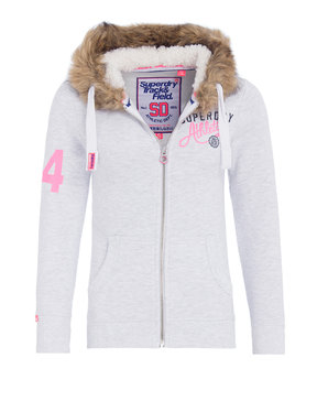 SUPERDRY ADULTS TRACK&FIELD SUPR TRACK ZIPHOODIE ΓΥΝΑΙΚΕΙΟ G20030PP-ICE MARL