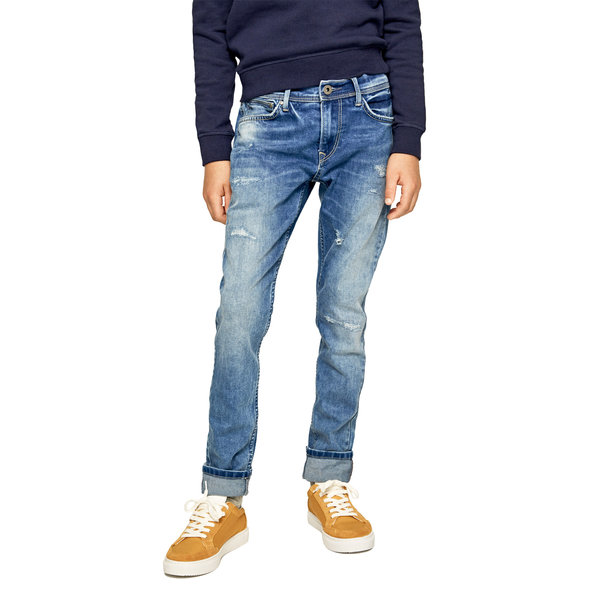 PEPE JEANS 'FINLY REPAIR' ΠΑΙΔΙΚΟ DENIM ΠΑΝΤΕΛΟΝΙ ΣΕ SKINNY FIT ΑΓΟΡΙ PB201474-000