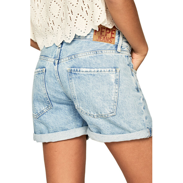 PEPE JEANS 'MABLE' DENIM ΣΟΡΤΣ ΓΥΝΑΙΚEIO ΣΕ RETRO STYLE PL800847NA6-000