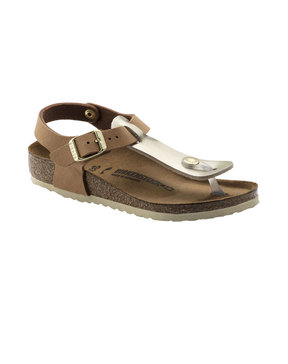 BIRKENSTOCK KIDS KAIRO SOFT METALLICS GOLD BROWN ΠΑΠΟΥΤΣΙ ΠΑΙΔΙΚΟ GIRL 1008185-SOFT METALLICS GOLD BROWN