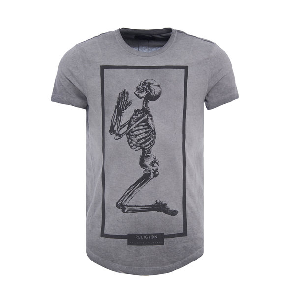 RELIGION BRAND SKELETON TEE ΜΠΛΟΥΖΑ ΑΝΔΡΙΚH 47EBDF3-DARK GREY